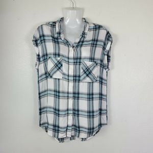 VANS tank Top Tunic Plaid